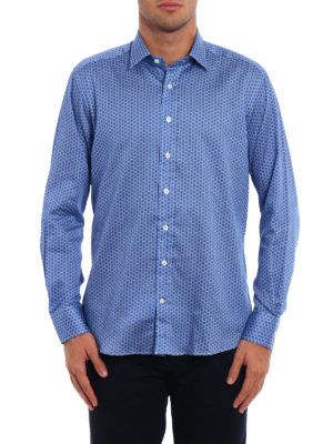 Etro: shirts online - Patterned cotton shirt