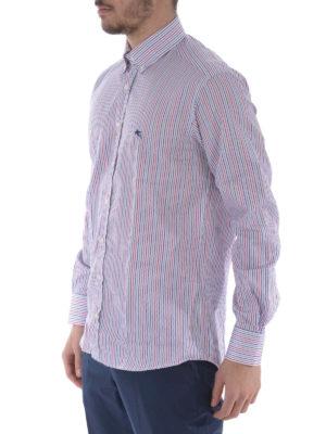 Etro: shirts online - Striped cotton b/d shirt
