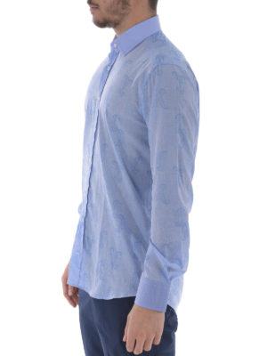 Etro: shirts online - Tonal paisley cotton shirt