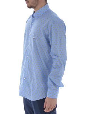 Etro: shirts online - Two-tone paisley cotton b/d shirt