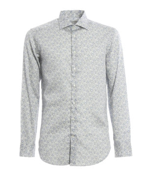 Etro: shirts - Paisley cotton shirt
