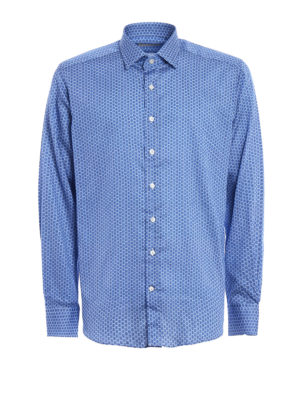 Etro: shirts - Patterned cotton shirt