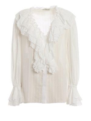 d2d72e6cd453f ETRO  camicie - Camicia in cotone bianco con volant
