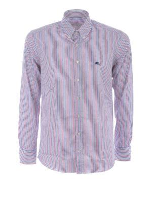 Etro: shirts - Striped cotton b/d shirt