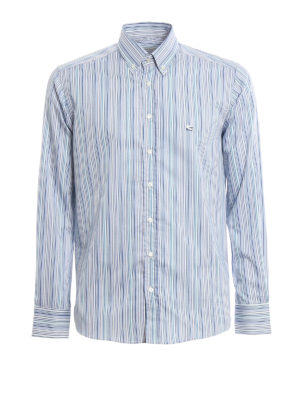 Etro: shirts - Striped cotton button down shirt