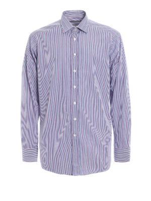 Etro: shirts - Striped cotton shirt