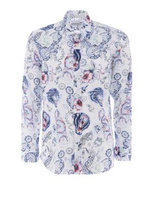 Etro: shirts - Tattoo print cotton shirt