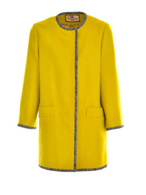 Etro: short coats - Embroidered wool coat