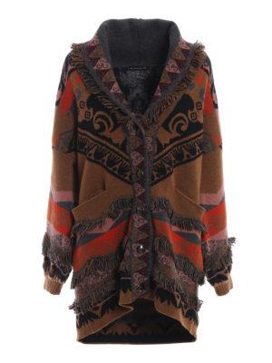 ETRO: cappotti corti - Cappotto corto in maglia di lana jacquard