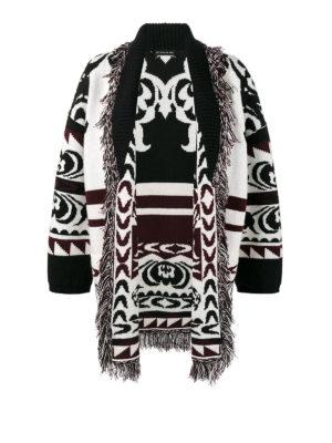 Etro: short coats - Jacquard knitted wool coat