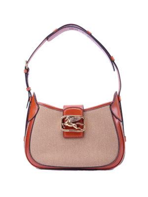 ETRO: shoulder bags - Pegaso canvas shoulder bag