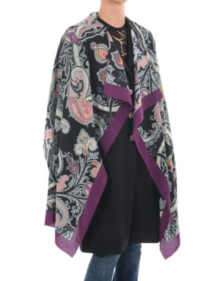 Etro: Stoles & Shawls online - Paisley silk shawl