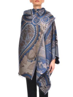 Etro: Stoles & Shawls online - Wool blend cloak