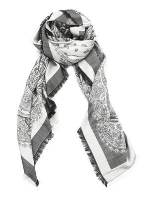 Etro: Stoles & Shawls - Paisley silk and wool shawl