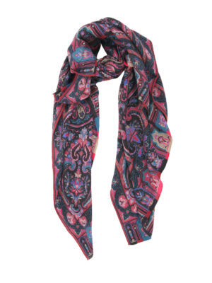 Etro: Stoles & Shawls - Wool and silk printed shawl