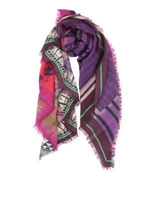 Etro: Stoles & Shawls - Wool and silk printed shawl