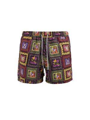 Etro: Swim shorts & swimming trunks - Ethnic print swimming shorts