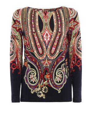 Etro: t-shirts - Paisley pattern viscose T-shirt