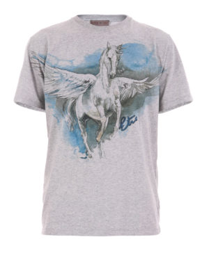 Etro: t-shirts - Pegasus print T-shirt