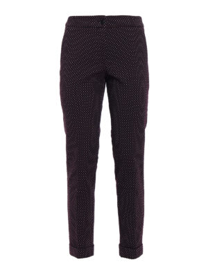 Etro: Tailored & Formal trousers - Jacquard cotton blend trousers