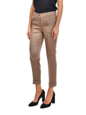 Etro: Tailored & Formal trousers online - Cigarette crop trousers