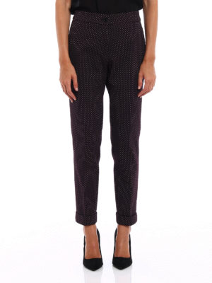 Etro: Tailored & Formal trousers online - Jacquard cotton blend trousers