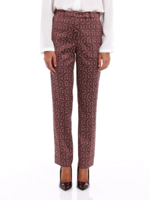 Etro: Tailored & Formal trousers online - Patterned jacquard trousers