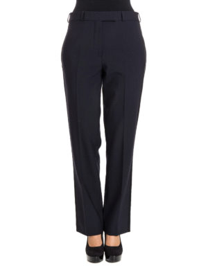 Etro: Tailored & Formal trousers online - Stretch wool blue formal trousers