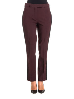 Etro: Tailored & Formal trousers online - Stretch wool burgundy trousers