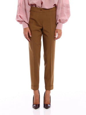 Etro: Tailored & Formal trousers online - Stretch wool cropped trousers