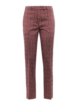 Etro: Tailored & Formal trousers - Patterned jacquard trousers