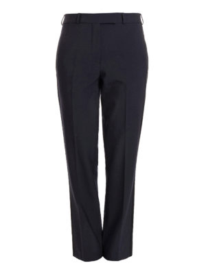 Etro: Tailored & Formal trousers - Stretch wool blue formal trousers