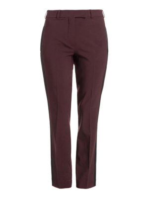 Etro: Tailored & Formal trousers - Stretch wool burgundy trousers