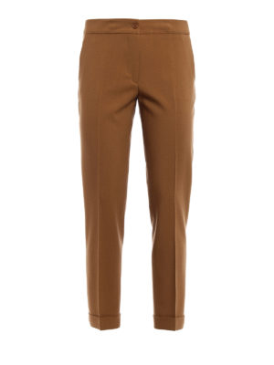 Etro: Tailored & Formal trousers - Stretch wool cropped trousers
