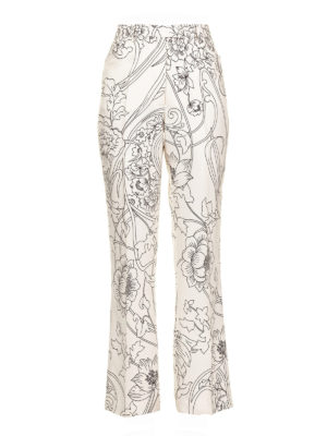 6cdc6f93a1ae9 ETRO  Pantaloni sartoriali - Pantaloni in twill di seta stampata