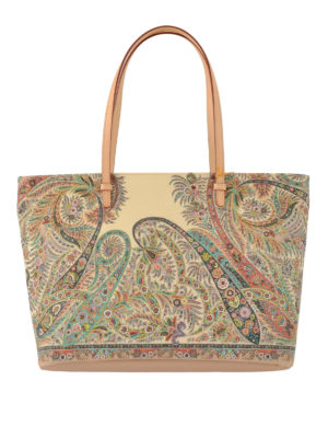 Etro: totes bags - Floral Paisley shopping bag