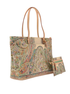 Etro: totes bags online - Floral Paisley shopping bag