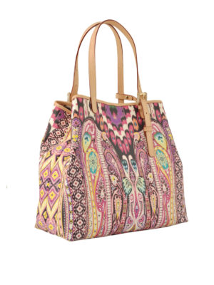 Etro: totes bags online - Tribal and paisley jacquard tote