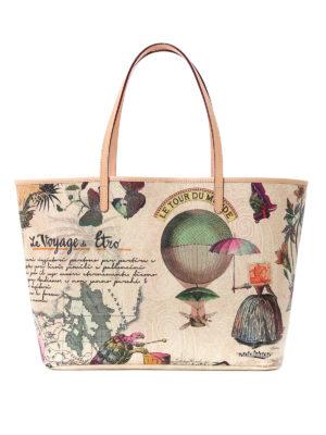 Etro: totes bags - Postcard print shopping bag