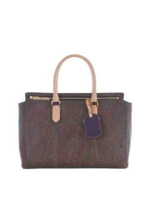 Etro: totes bags - Russel Cashmere print tote bag