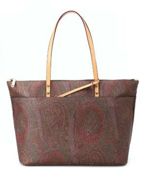 ETRO: shopper - Shopper in classico tessuto Paisley