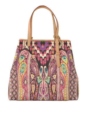Etro: totes bags - Tribal and paisley jacquard tote
