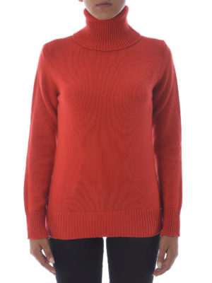 Etro: Turtlenecks & Polo necks online - Wool and cashmere orange turtleneck