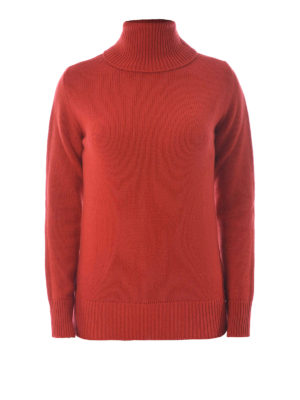 Etro: Turtlenecks & Polo necks - Wool and cashmere orange turtleneck