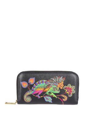 ETRO: portafogli - Portafoglio zip-around Rainbow Soft Chameleon
