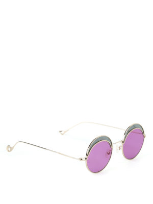 Eyepetizer: sunglasses - Artur two-tone round sunglasses