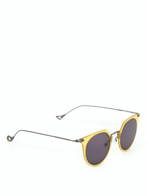 Eyepetizer: sunglasses - Brigitte yellow rim sunglasses