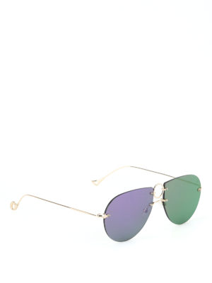 Eyepetizer: sunglasses - Hal mirror lenses metal sunglasses