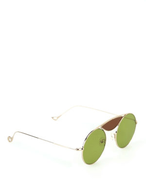 Eyepetizer: sunglasses - John light gold metal sunglasses