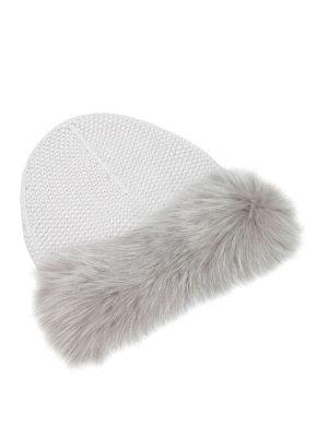 Fabiana Filippi: beanies - Fox fur embellished cashmere beanie